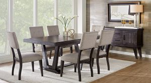 chic office chair dr rm hillcreek black chrs ~hill creek black pc rectangle dining room