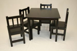 child wood table and chair set kids table and chair set pcs solid hard wood in espresso