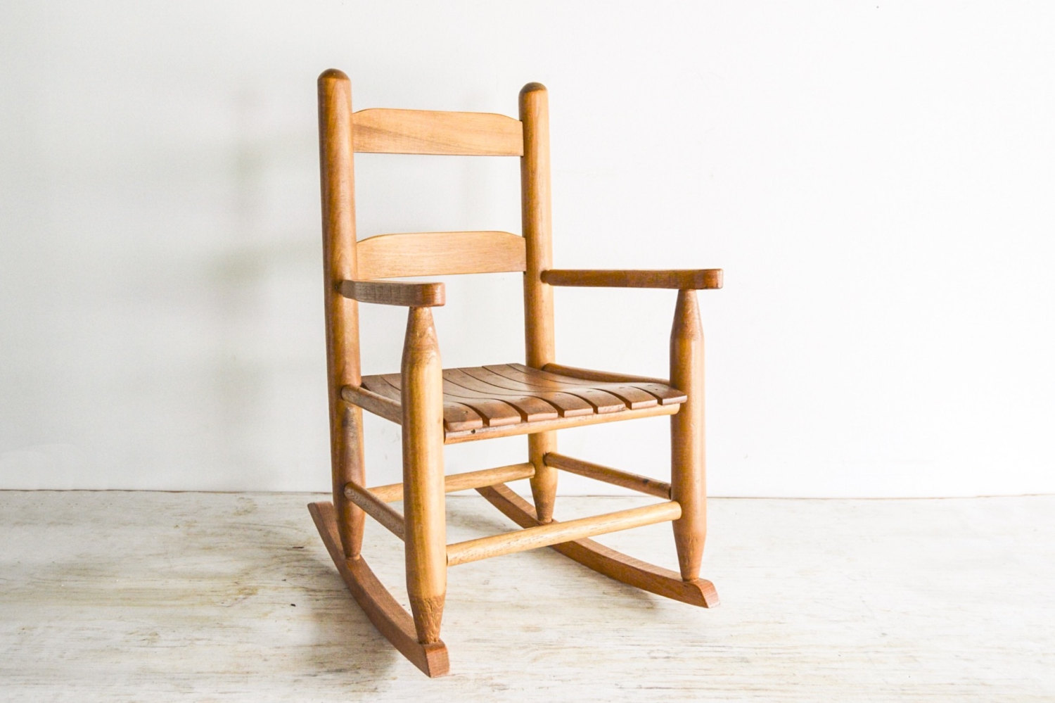 childs wooden rocking chair