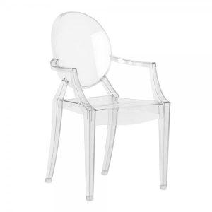 clear plastic chair