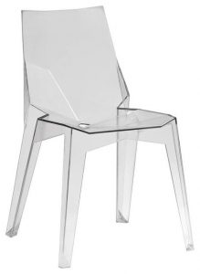 clear plastic chair modern dining chairs