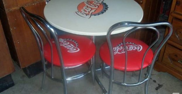 coca cola table and chair coca cola table chairs