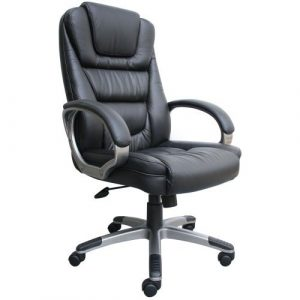 comfortable office chair high back leather executive chair