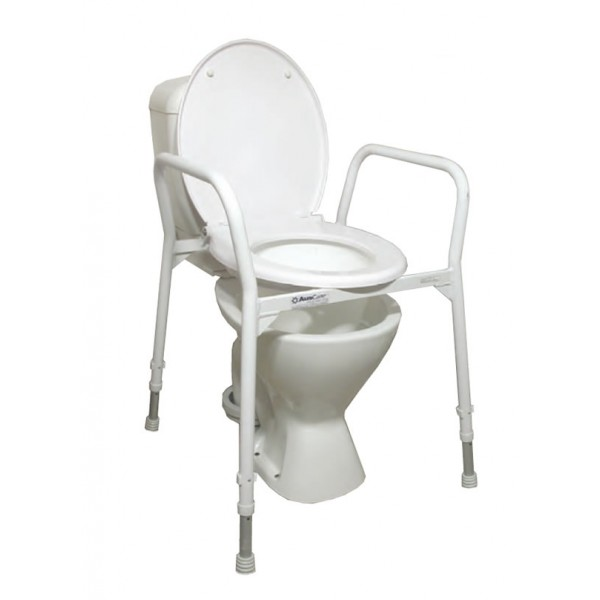 commode chair over toilet