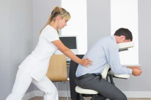 corporate chair massage shutterstock