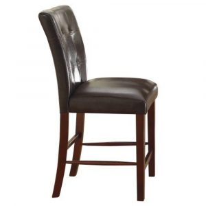 counter height chair homelegance decatur tufted counter height chair in dark brown