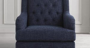 dark blue accent chair t