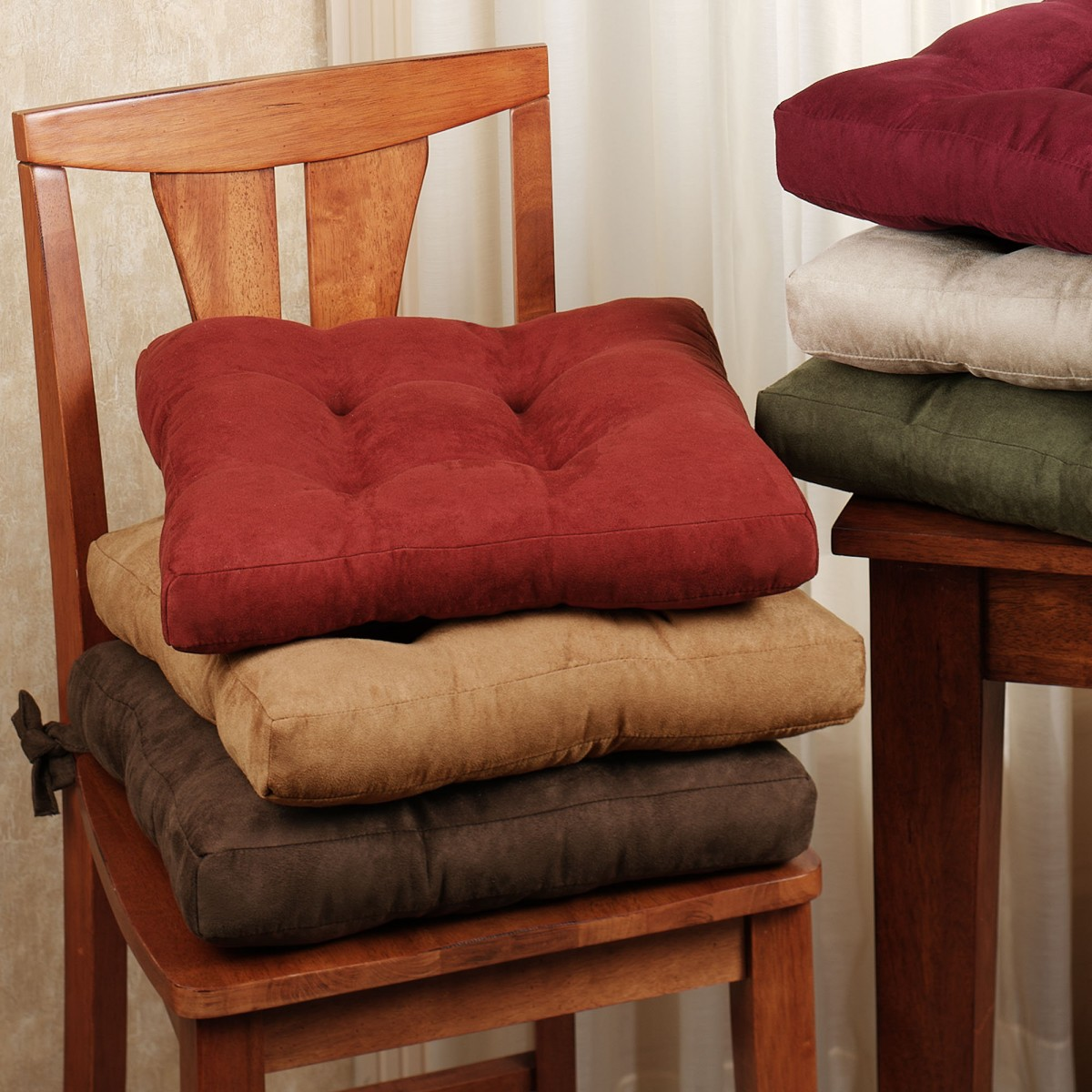 dining chair cushions with ties