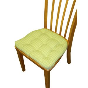 dining chair pads dining chair pad with ties tack tufted in britt green pesto plaid reversible