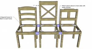 dining chair plans bench spacers