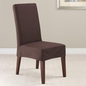 dining chair slipcover twillsupreme coffee short dining chair