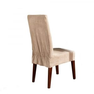 dining room chair slipcovers sure fit soft suede short dining room chair cover