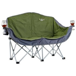 double camping chair moon chair double with arms x