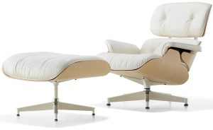 eames chair and ottoman white ash eamesreg lounge chair ottoman charles and ray eames herman miller