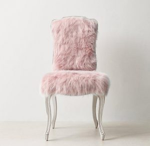faux fur chair cabriole legs pink faux fur desk chair