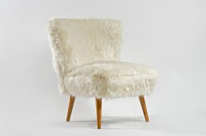 faux fur chair mid century white faux fur cocktail chair