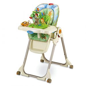 fisher price rainforest high chair w rainforest healthy care high chair d