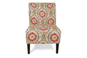 floral accent chair ash
