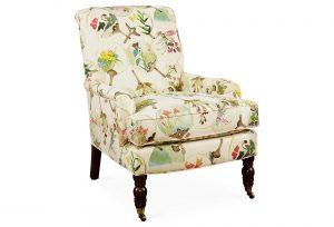 floral accent chair full size