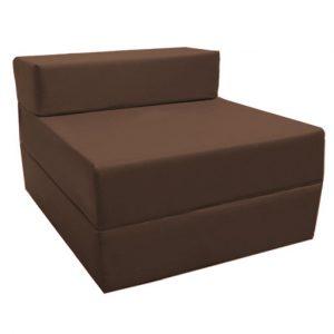 foam chair bed brown