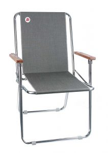 fold up chair small zip dee chair charcoal tweed front