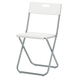 foldable chair ikea gunde folding chair white pe s