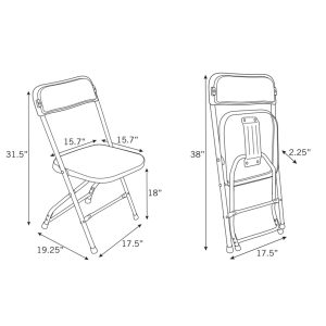 folding chair dimensions be