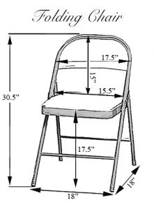 folding chair dimensions folding chair covers dimensions