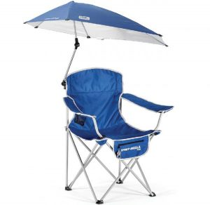 folding chair with umbrella chairumrbellablue