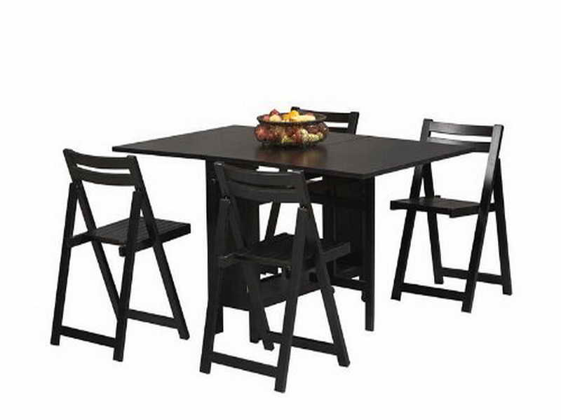 folding dining table and chair