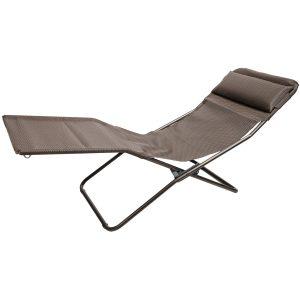 folding recliner chair lafuma transalounge folding recliner chair in moka marron brown~p~r ~
