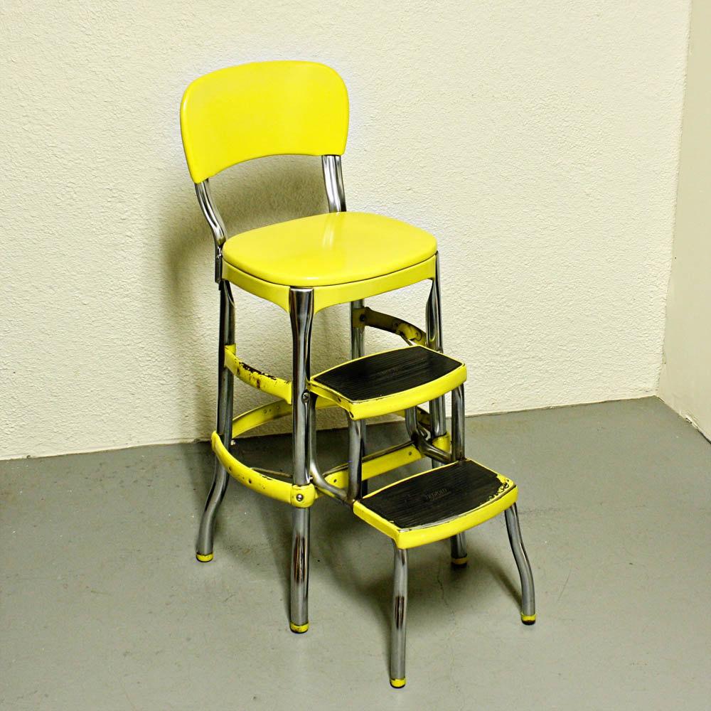 folding step stool chair