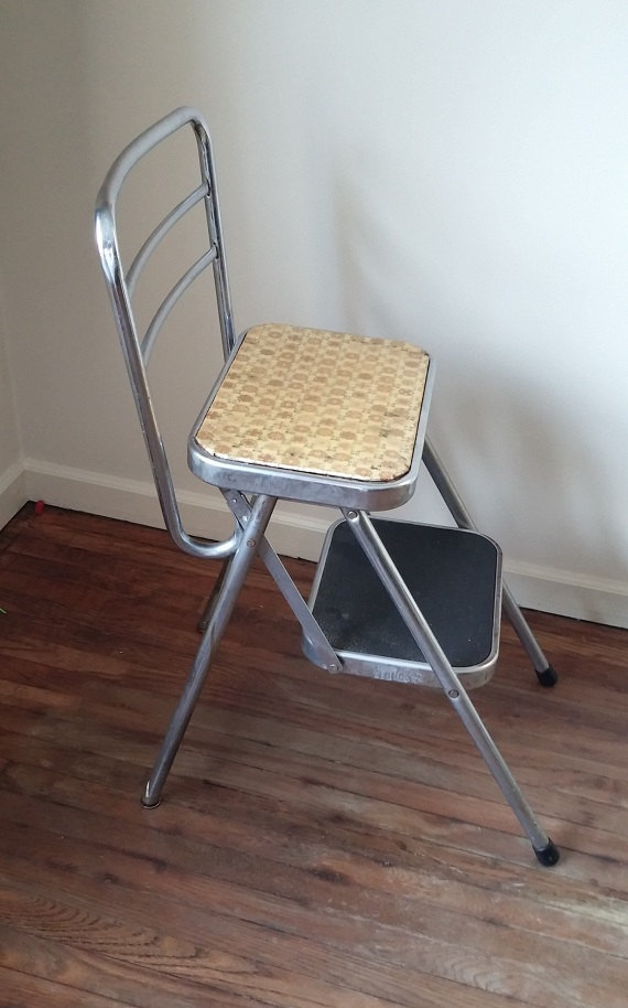 folding step stool chair