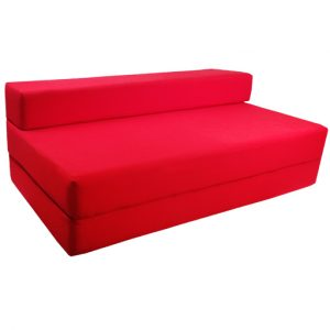 foldout bed chair red double