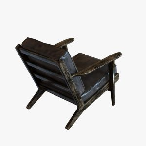 four hands chair four hands irondale brooks lounge chair in ebony black wash weat d model max