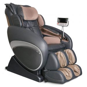 full body massage chair best full body massage chairs greybrown combination color leather cover side touch panels curved shape zero gravity design full body massaging chair