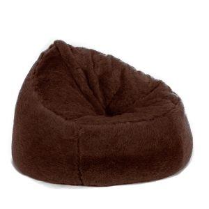 fur bean bag chair beanbag chair faux fur brown bear long pile