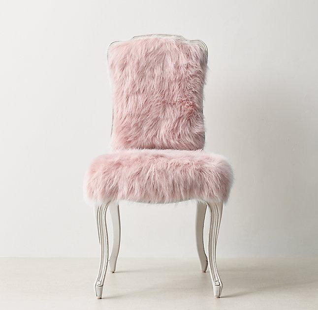 fur desk chair cabriole legs pink faux fur desk chair