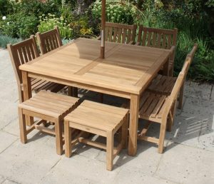 garden tables and chair square table seater set web