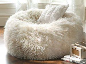 ghost chair ikea fuzzy bean bag chair bean bag chair fuzzy white ababbeff