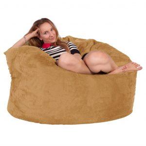 giant bean bag chair lounge lizard massive memory foam bean bag round bac c ad bcea x
