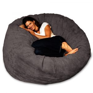 giant beanbag chair chill bag bean bags bean bag chair feet charcoal