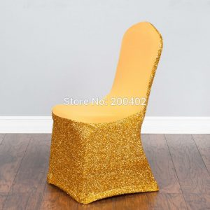 gold chair covers free shipping pcs gold sequin spandex chair cover