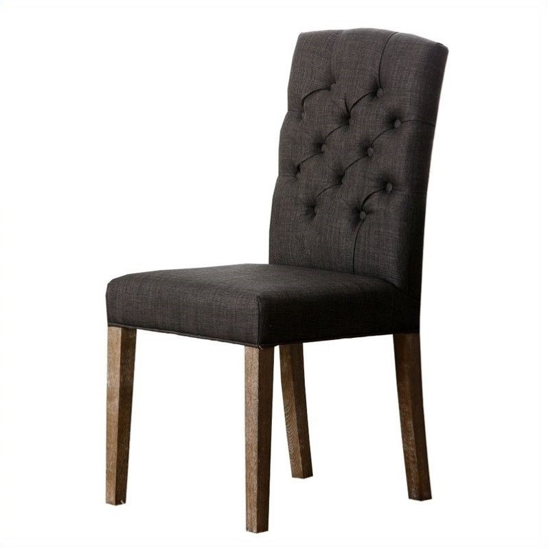 gray tufted dining chair