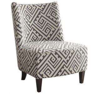 grey and white chair grey and white fabric geometric pattern chair