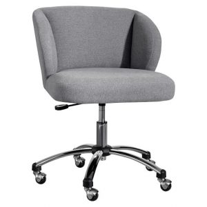 grey desk chair highlands gray wingback desk chair c