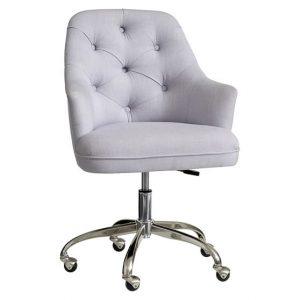 grey desk chair tufted upholstered desk chair c