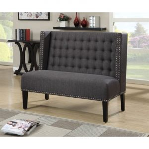 grey oversized chair l