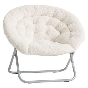 hang a round chair ivory sherpa faux fur hang a round chair c