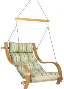 hanging swing chair cushioned single swing chair